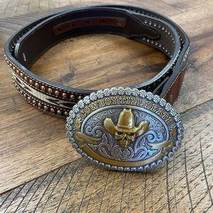 NOCONA belt co leather western belt